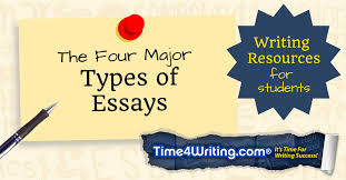 the four major types of essays timewriting