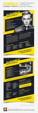 rombus dj resume press kit psd template by vinyljunkie rombus dj resume press kit psd template resumes stationery