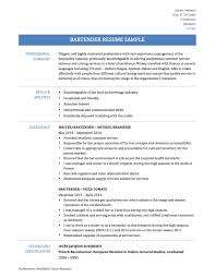 bartender resume samples templates tips onlineresumebuilders bartender resume