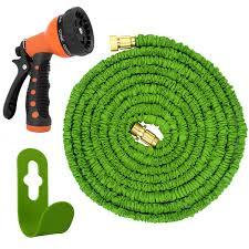 garden hose spray nozzle. Magic Vida® Expandable Garden Hose 50 Feet Spray Nozzle Double Latex Core No Kink - YouTube