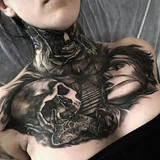 chest tattoo designs for girls. Unique Chest 3D Chest Tattoo For Women  75 Nice Chest Tattoo Ideas  Intended Designs For Girls A