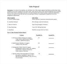 Sale Sample Proposal Letter Sales Format Offer For Area