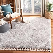 safavieh hand tufted flokati light grey ivory wool rug 5
