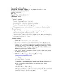 Cover Letter Junior Photographer Resume Junior Photographer Resume