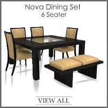 glass dining table set for 6 4 dining table and chairs dining set four throughout 6