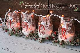 Ideas For Decorating Mason Jars For Christmas Frosted Noel Mason Jars Yesterday On Tuesday 47