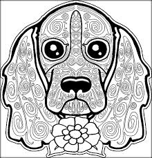Small Picture Coloring Pages Book on DOG For Adults Kids Color Zini