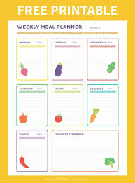 meal planner free free weekly meal planner printable amuse your bouche