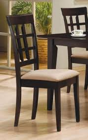 coaster contemporary style dining chairs cappuccino wood finish set of 2 2 contemporary style cappuccino finish wood dining chairs