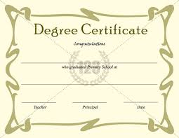 degree certificate templates best degree certificate templates for primary school graduation day