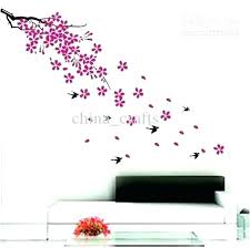 elegant adhesive wall decor adhesive wall decor whole removable swallow and flowers wall stickers living room