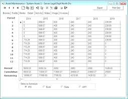Fixed Asset Schedule Example