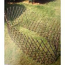 green garden depot circular willow fence rustic