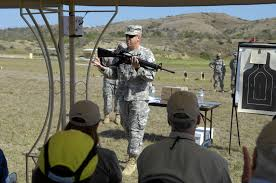 u s department of defense photo essay  u s army 1st sgt mark sanchez goes over proper m 16 a 2