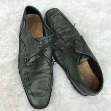 details about cole haan nikeair mens oxford dress shoes green leather brown laces size 10 5