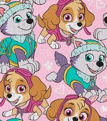nick junior paw patrol cotton fabric 44 u0022 packed on pink