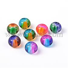 spray painted glass european beads large hole beads rondelle mixed color 12x9mm hole 3mm x dgla r016 12mm m