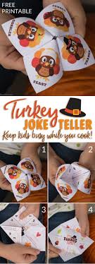 Easy Kids Activity: Thanksgiving Joke Teller