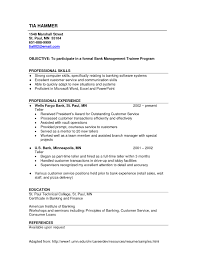 Sample Resume For Banking Operations Bank Resume Examples Free Resume Templates 18