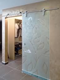 sliding glasirrored frosted glass barn door best custom glass shower doors