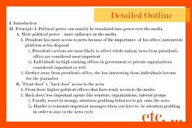Political Science Research Paper Outline Example Make An Outline