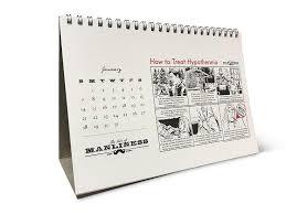 desk calendar. Simple Desk Illustrated Guide To The Art Of Manliness 2018 Desk Calendar Inside K