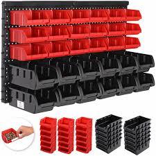 deuba plastic bins kit with wall panel