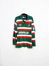 green red white stripe rugby shirt
