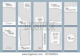 Paper Frames Templates Torn Paper Stories Vector Photo Free Trial Bigstock