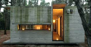 small modern concrete house plans