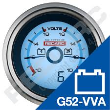 battery isolator and wiring kit 12v products redarc electronics dual voltage 52mm gauge optional current display
