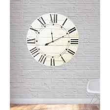 vintage white farmhouse oversized wall clock