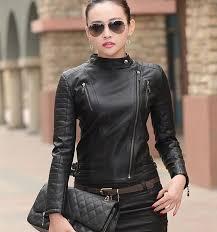 arrow women black leather jacket slim fit 7676tf