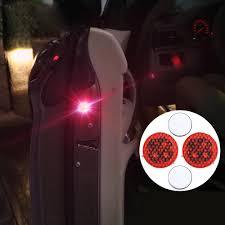 <b>2x</b> Universal <b>Car Door</b> LED Opened <b>Warning</b> Flash Light Kit ...