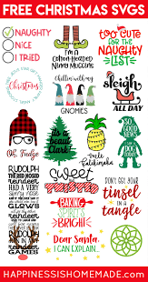 You can copy, modify, distribute and perform the work, even for commercial purposes, all. Free Christmas Svg Files Happiness Is Homemade