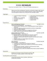 Hvac Technician Resume