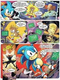 sonichedge sonic sd turns him blue fleetway s sonic the ic continuity from the story origin of sonic from issue 8