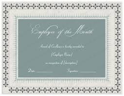 Recognition Awards Certificates Template Excellent Employee Performance Award Certificate Designs