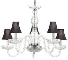 murano venetian style crystal chandelier with black shades