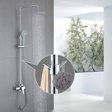 Homelody Messing Duschsysteme Wandhalterung Thermostat Dusche Duschset Mit Haken Günstig Online