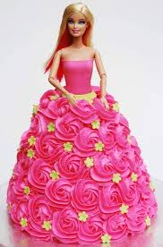 Barbie Roses Dress Cake Fondant Cakes In Lahore Free Delivery