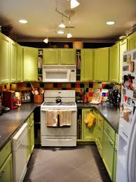 Green And Yellow Kitchen Amazing Kitchen Set In Modern Design With Dining Table Set And Bar