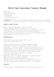 Daycare Worker Resume Beauteous Resume For Child Care Mkma