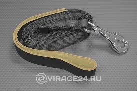 <b>Поводок</b> для собак ПСК-25х2000мм стропяной с <b>кожаной петлей</b> ...