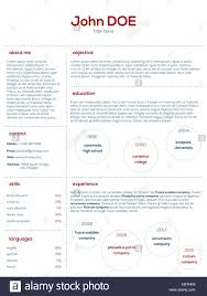 Simplistic Modern Cv Curriculum Vitae Cv Design In Blue And Red