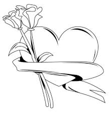 valentine heart with roses coloring pages 600x609 jpg 600 609
