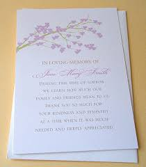 Personalized Sympathy Thank You Cards Personalized Thank You Cards For Funeral Arts Arts