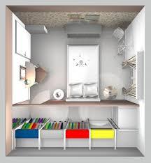 Plani volumetrico camera con cabina armadio abitabile minimalist