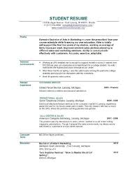 Resume Format For Fresh Graduates With No Experience Resume Sample Resume  For Fresh Graduate Without Work Experience