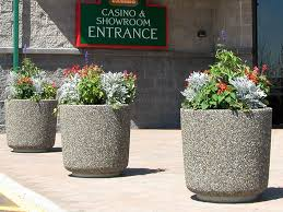 large cement planters. Large Concrete Street Planters Cement E